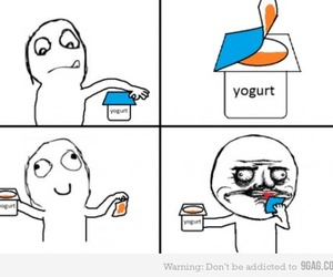 funny, lol, and yogurt image
