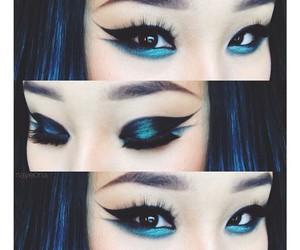 cosmetics, eye liner, and eye shadow image