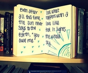 book, love, and sun image