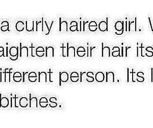 curly, girl, and quote image