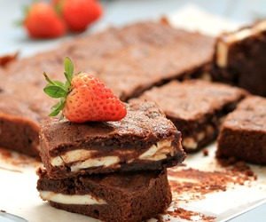 cake, red, and choccolate image