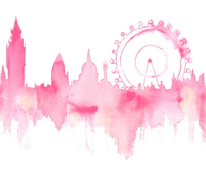 pink, art, and london image