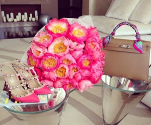 flowers, hermes, and pink image