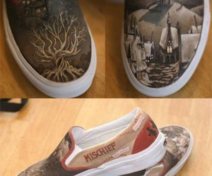 harry potter, shoes, and hogwarts image