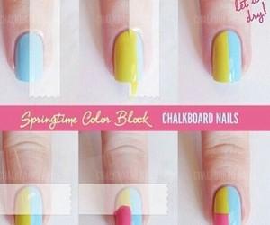 nails, diy, and blue image