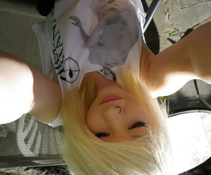 blonde, scene, and cute image