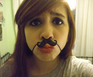 lol, moustache, and @andreagaskarth image
