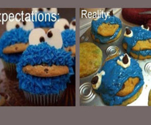 cookie monster, expectations vs reality, and scary image