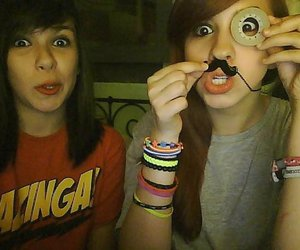 funny, friends, and moustache image