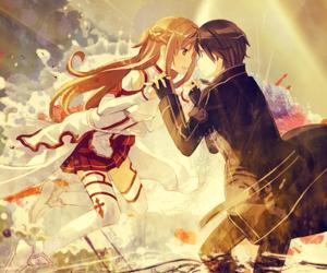 sword art online, anime, and kirito image