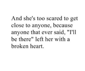 quote, scared, and sad image