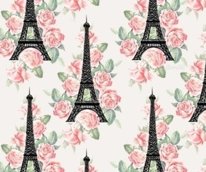 pink, flowers, and paris image