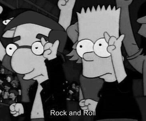 rock, simpsons, and bart image