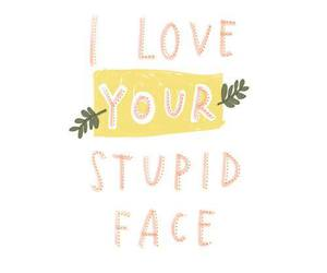 face, stupid, and love image