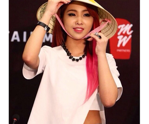 2ne1, pink hair, and minzy image