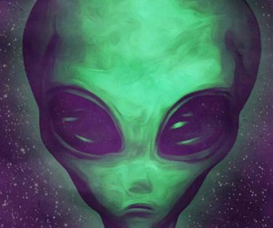 alien, Ovni, and psychedelic image