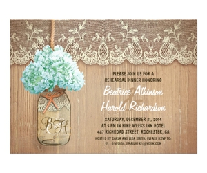 wedding, rehearsal dinner, and personalized invitations image