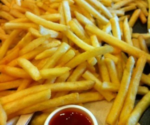 food, French Fries, and love image