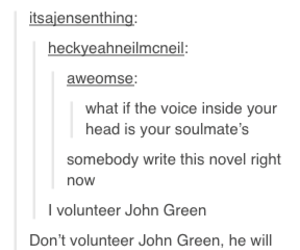 funny, john green, and sad image