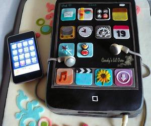 cake, cute food, and ipod image