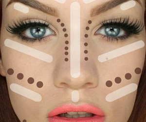Bright Eyes, make up, and contouring image