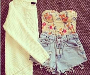 girly, shorts, and high waisted image