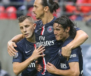 edinson cavani, W, and zlatan ibrahimovic image