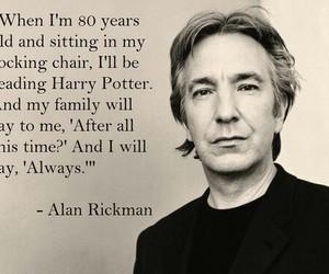 harry potter, alan rickman, and always image