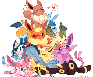 eevee, pokemon, and vaporeon image