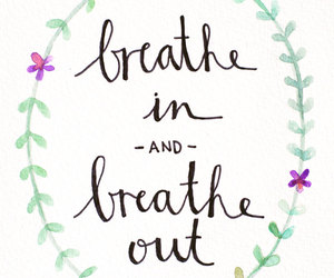 breathe, leaves, and typography image