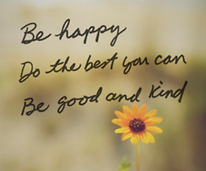 good, happy, and wise words image