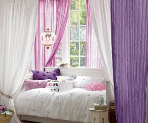 bedroom, beautiful, and bed image