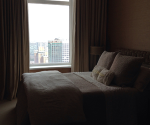 apartment, bedroom, and city image