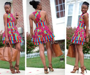 african fashion, colourful, and dress image