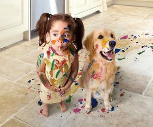 dog, kids, and child image