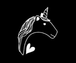 unicorn and black image