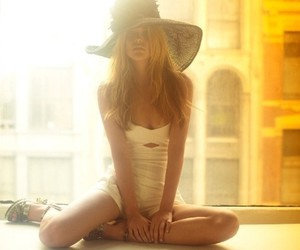 girl, hat, and model image