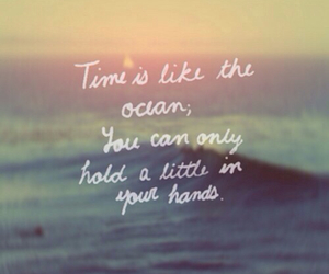 quote, ocean, and time image
