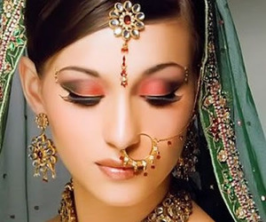 bridal, make up, and oriental image