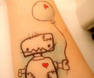 heart, tatoo, and robot image