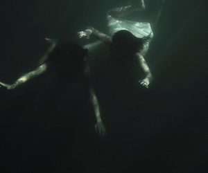 dark, pale, and water image
