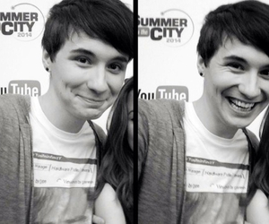 danisnotonfire, dan howell, and black and white image