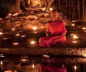 Buddha, meditation, and monk image