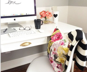 colorful, desk, and room image