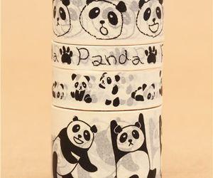 kawaii, panda, and tape image