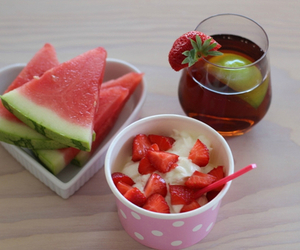 breakfast, food, and watermelon image
