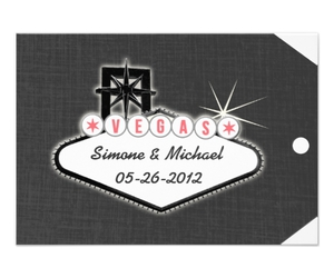 Las Vegas, wedding, and personalized invitations image
