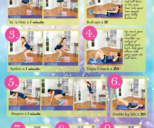 workout, fitness, and flat belly image