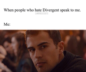 quote, divergent, and theo james image