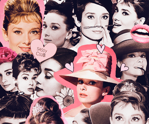 audrey hepburn, Collage, and Queen image